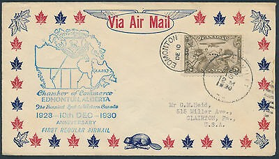 1930 AAMC #3067 Edmonton 2nd Aniversary of Airmail, Lumber Label