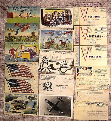 World War Ii Postcard Correspondence Booklets Pamplets & Related
