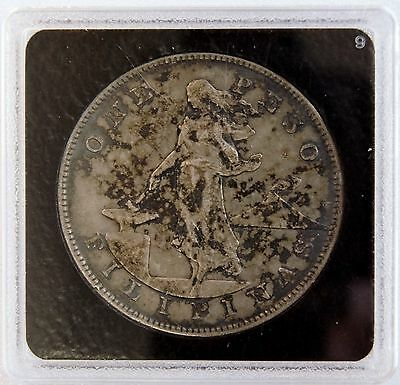 1905 S 1 Peso US-Philippines Silver Dollar Crown Coin Manila Bay LV#604
