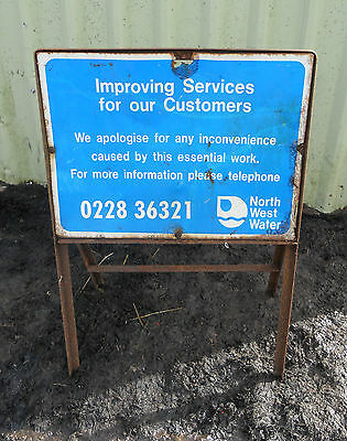 METAL Free STANDING Traffic A-BOARD ROADSIGN Road Sign - NORTH WEST WATER