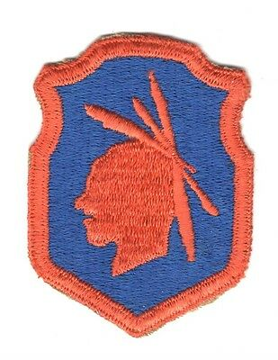 Army Patch: 98th Infantry Division, cut edge, WWII era, orange