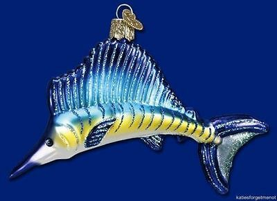 Amazing Sailfish Glass Ornament by Old World Christmas 12226 NEW