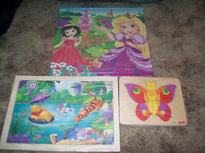 lot of 3 children's puzzles