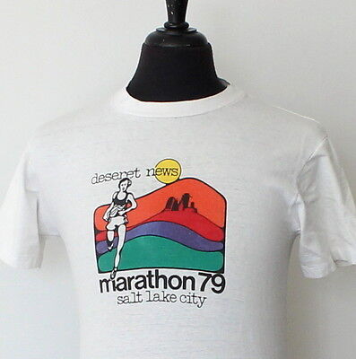 vintage 1979 RUNNING soft T SHIRT small 70s not 80s