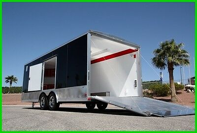 New! Aluminum 8.5 X 25 Enclosed Cargo Race Carhauler Trailer  -2800 Lbs!