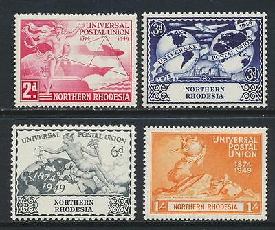 Northern Rhodesia 1949 Upu  Set, Vf Nh Og (See Below-Part Of Collection)