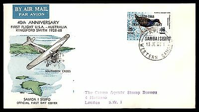 Samoa Kingsford Smith First flight Anniversary 1968 FDC