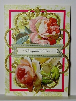 Special Occasion Congratulations Greeting Card ~ Handmade Anna Griffin Style