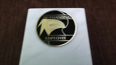 outstanding employee paperweight marble award metal insert personalized