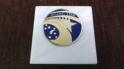 rising star paperweight marble award metal insert personalized