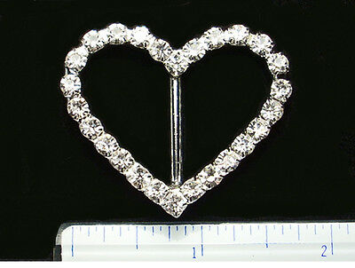 Irish Dance Crystal Shoe Buckles * Heart * One Pair Boxed