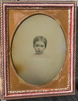 Quarter Plate Vignette Ambrotype Little Girl
