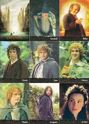 Lord Of The Rings Fellowship Of The Ring Movie 2001 Topps Base Card Set Of 90