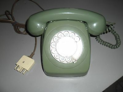 Vintage Green Rotary Dial Telephone