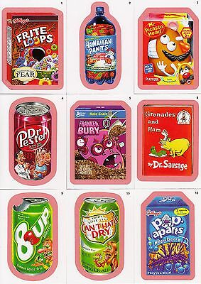 Wacky Packages Ans 8 2011 Topps Parallel Pink Red Insert Card Set Of 55 Sf Base
