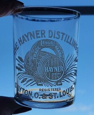 2 Antique Pre-Pro The Hayner Distilling Co. Shot Glasses