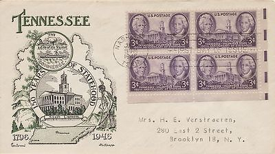 #941 Tennessee Statehood Fleetwood Knapp cachet First Day cover