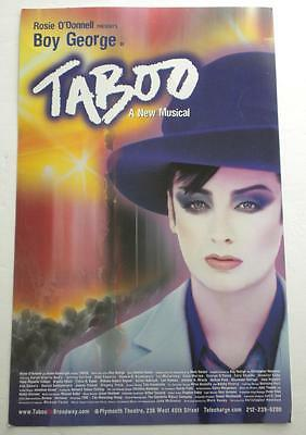 BOY GEORGE TABOO  Original Broadway POSTER  14 x 22  Rare