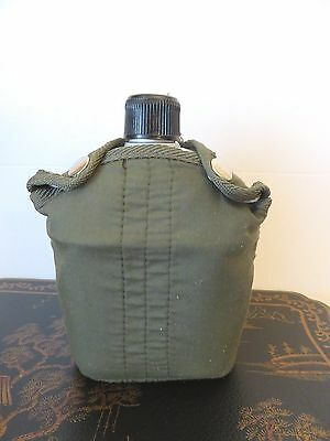 Vintage Look Canteen All Aluminum With Removable Fabric Cover