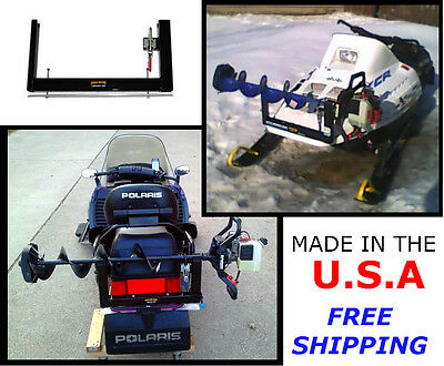 Ice Auger Carrier Mount for Snowmobile Front or Back Bumper - Best Selling Rack