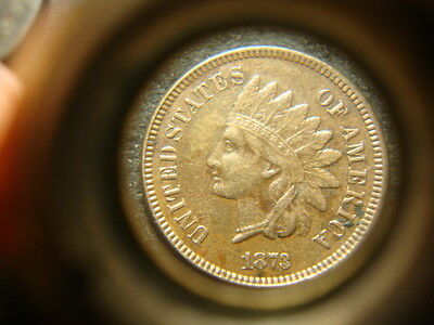 1873 XF Bold  Indian Head Cent Full Strike LB2