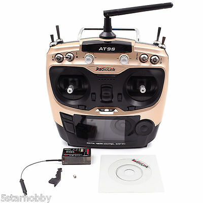 Radiolink AT9S 2.4G 10Ch Radio Control Transmitter and R9DS Receiver RC Model
