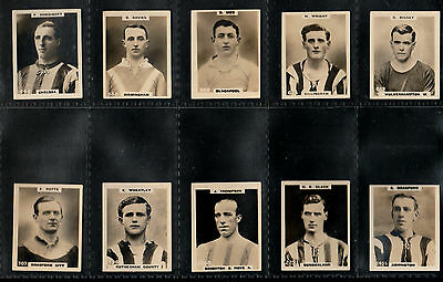 """10 x PHILLIPS 1922/3 SUPERB ( FOOTBALL ) TYPE CARDS """" 10 DIFFERENT PINNACE CARDS"""