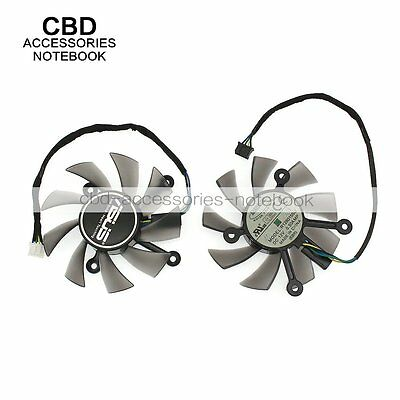 For ASUS R128015SU Video Card Fan DC12V 0.50A Displacement 75mm x 75mm x 15mm