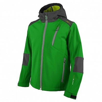 Campagnolo Children's Hiking Leisure Softshell Jacket with fixed hood green grey
