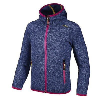 Campagnolo Girl Hiking Leisure Fleece jacket with hood mottled blue pink