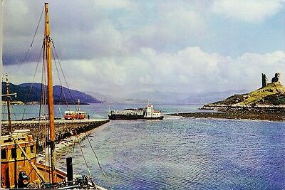 THE FERRY AND CASTLE MOIL. KYLEAKIN Isle of Skye Colour Photo Postcard 3733