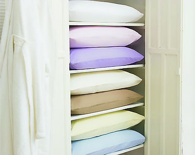 100% Brushed Cotton Flanelette Pair Pillow Housewife Cases All Colours