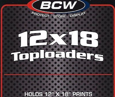 10 12X18 Hard Plastic Toploaders Photo Print Rigid Holders BCW Supplies
