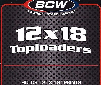 10 New 12X18 Hard Plastic Toploaders Photo Print Rigid Holders BCW Supplies