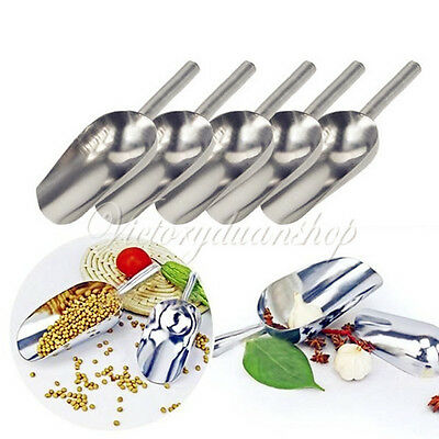 1/5/10Pcs Sweet Candy Buffet BBQ Ice Stainless Scoops Wedding Bar Party Kitchen