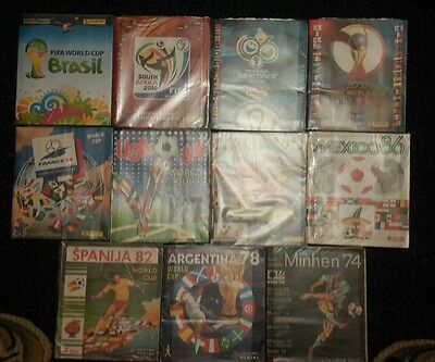Panini albums / FIFA World Cups /11 Albums all complete (except France 98)