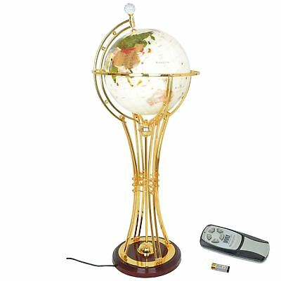 Rotating Earth Globe with Luxury Gold finish Stand Home Office Decor