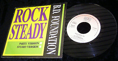 """7"""" B.D. FOUNDATION - ROCK STEADY * 2 VERSIONS * RED BULLET 1989 NL * TOP m/nm"""