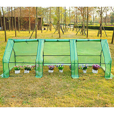 Portable Tunnel Flower Garden Greenhouse Warm Plants Shed Green House 9'x3'x3'