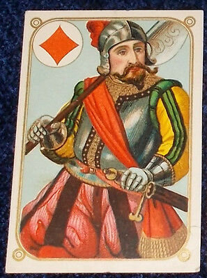 ANTIQUE PLAYING CARDS --  B. DONDORF - SINGLE CARD -    c.1880