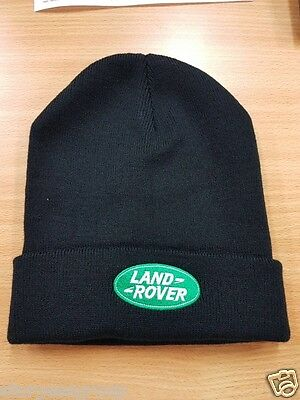 Land Rover Black Beanie Hat with Embroidered Land Rover Logo