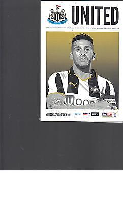 PROGRAMME & POSTER - NEWCASTLE UNITED v HUDDERSFIELD TOWN - 13 AUGUST 2016
