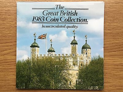 1983 Brilliant Uncirculated 8 Coin Collection Year Set Royal Mint BU