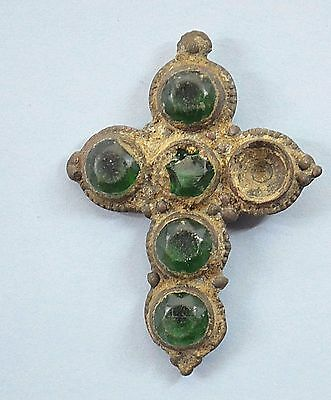 Medieval Viking period Christianity Cross with gemstones