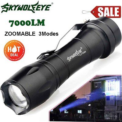 7000LM Super Bright CREE Q5 AA/14500 3 Modes Tial ZOOMABLE LED Flashlight Torch