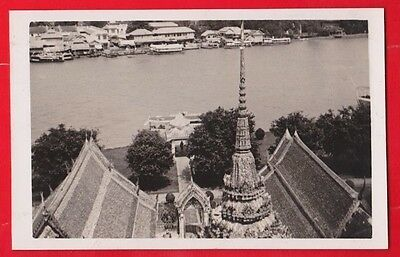 China, Siam, Bangkok, Looking across river from the wat arun, postcard