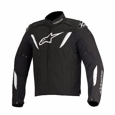 Alpinestars T-GP R Waterproof Black White Motorcycle Jacket, NEW!