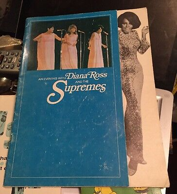 An Evening with Diana Ross And The Supremes 1968 Program N Newspaper Clipping.