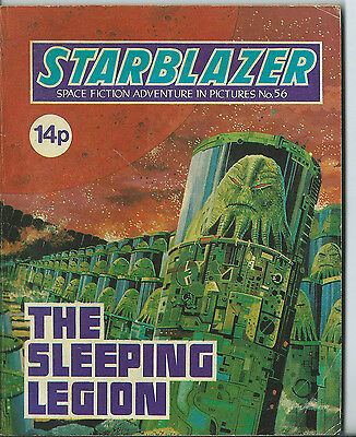 The Sleeping Legion,starblazer Space Fiction Adventure In Pictures,no.56,1981