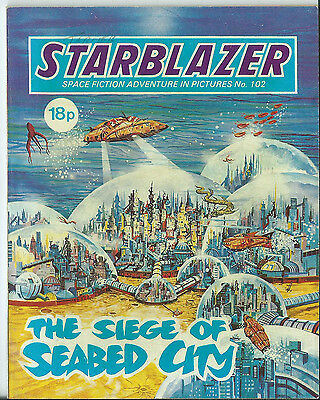 The Siege Of Seabed City,starblazer Space Fiction Adventure In Pictures,no.102